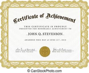 Certificado de vector con frontera pesada