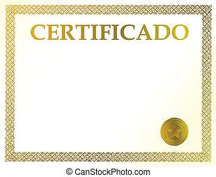Certificado español en blanco