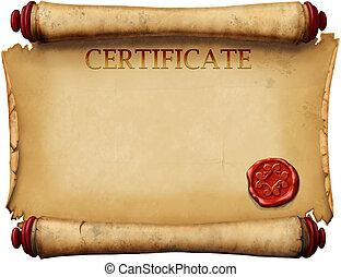 certificados, estampilla, cera