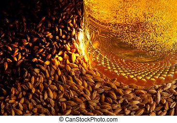 Cerveza e ingredientes