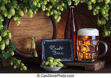 Cerveza embotellada y sin sabotear