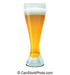Cerveza en vaso