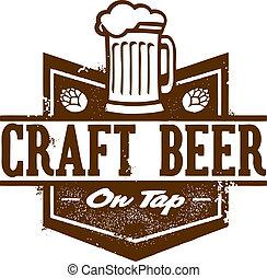 cerveza, gráfico, arte