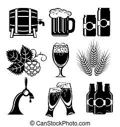 cerveza, iconos
