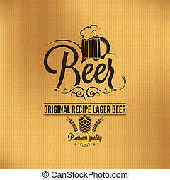 cerveza, vendimia, plano de fondo, cervezadorada