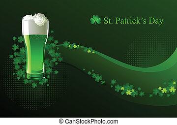 Cerveza verde para el día de Patrick