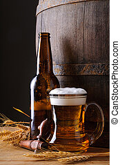 Cerveza y botella