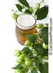 Cerveza y salto