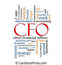 CFO, concepto de nubes