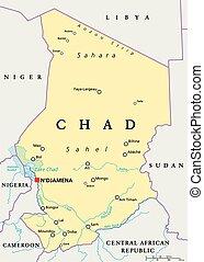 Chad mapa político