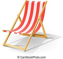 Chaise longue de la playa de madera