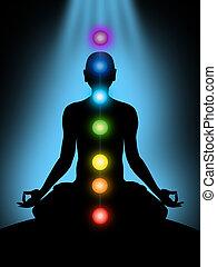 chakras, meditación