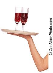Champaña de tres vasos