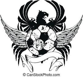 Chaqueta de fútbol heráldica de armas Crest3