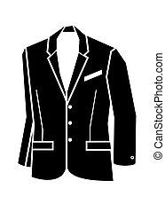 chaqueta, vector, ilustración