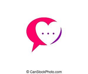 Charla de amor, habla de amor, diseño de logo