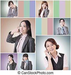Charla de mujer de negocios