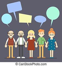 Charlando concepto de comunicación con la gente