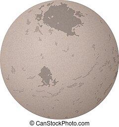 Charon lunar, aislado en blanco