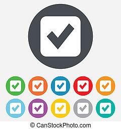 checkbox, button., marca, icon., señal, cheque