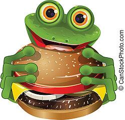 cheeseburger, rana