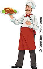 Chef alegre - ilustración