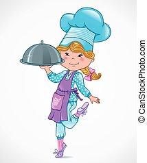 Chef bebé con bandeja