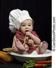 Chef bebé en bol