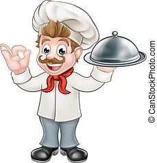 Chef cocinero dibujos animados