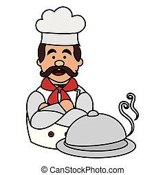 Chef con carácter bandeja