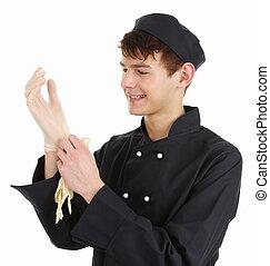 Chef con guantes