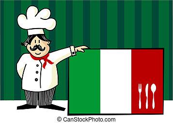 Chef de cocina italiana