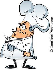 Chef enojado