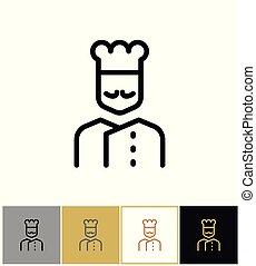 Chef icono, señal de cocina restaurante