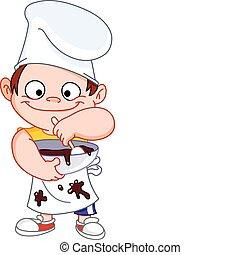 chef, niño