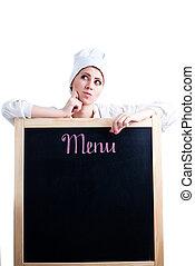 Chef pensando en el menú