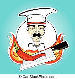 Chef y pimienta