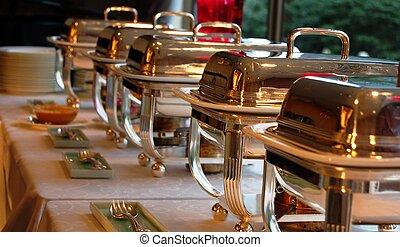 cheffing, platos, buffet