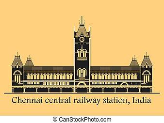 chennai, estación, central