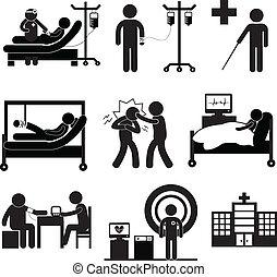Chequeo médico en el hospital