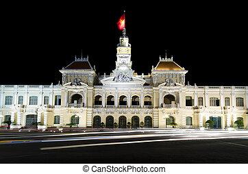 chi, minh, ho, vestíbulo, ciudad, vietnam