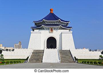 chiang, monumento conmemorativo, kai, shek, vestíbulo