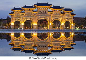 chiang, pasillo conmemorativo, taipei, kai-shek