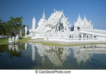 chiang, tailandia, blanco, templo, rai