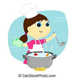Chica cocinera