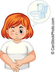 Chica con diabetes orina frecuente
