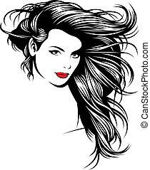 Chica con lindos cabellos de mi fantasía