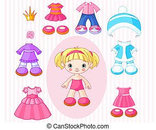 Chica con ropa