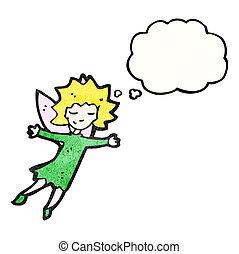 Chica de hada voladora