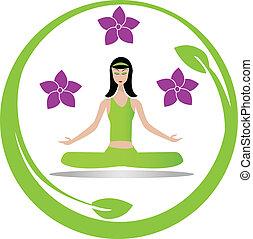 Chica de meditación yoga